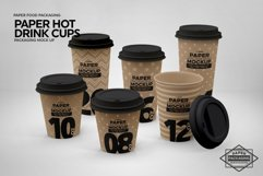 Paper Hot Drink Cups Packaging Mockup Product Image 5