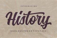History Font Trio Product Image 2