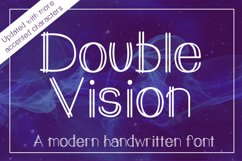 Double Vision- A modern handwritten print font Product Image 1