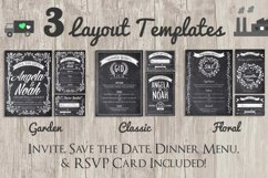 Chalk Invite Creator Bundle Wedding Save Date Vintage Event Product Image 2