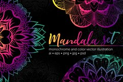 Set of bright vector mandalas Product Image 1