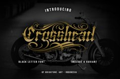 Crosshead - Blackletter Tattoo Font Product Image 1
