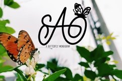 Web Font A Butterfly Monogram Product Image 1
