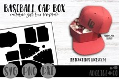 Baseball Cap Box, template, giftbox, cuttable box, SVG, PNG, Product Image 1