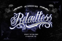 Relentless - Tattoo Font Product Image 1