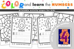 Color and learn the numbers | printable activity for kids. Product Image 1