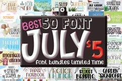 Best July Font Bundle Include 50 Font Product Image 1