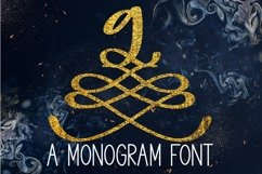 Web Font A Formal Monogram Font - Initials For Wedding Product Image 1