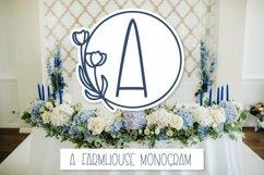 Web Font A Framed Farmhouse Monogram Product Image 1