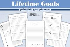 Lifetime goals   printable goal planner. Product Image 1
