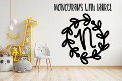 Web Font A Round Laurel Font - A Monogram Font Product Image 3