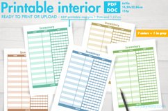 Set of inventory KDP notebooks in 7 colors and 1 in grey. Product Image 1