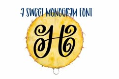 Web Font A Swirly & Sweet Monogram Font Product Image 1