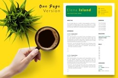 Creative Resume CV Template for Word & Pages Elena Island Product Image 2