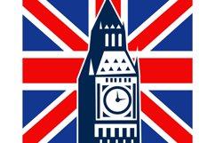 London Big Ben British Union Jack flag Product Image 1