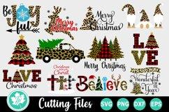 Christmas Leopard Print SVG Bundle Product Image 1