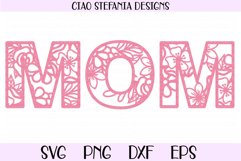 Mom Floral SVG Mother's Day Cut File Product Image 1