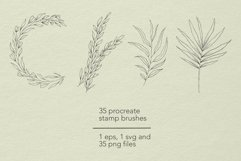 Botanical Procreate stamp brushes, vector clipart Product Image 6