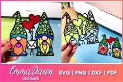 GUS & GINO THE GNOME LOVERS SVG VALENTINES DAY MANDALA Product Image 6