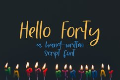 Hello Forty - A Hand-Written Script Font Product Image 1