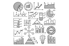 Business illustrations of charts, graphics and other differe Product Image 1