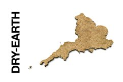 ENGLAND 3D Maps Images Dry Earth Snow Grass Product Image 2