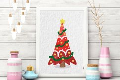 Watercolor Christmas tree clipart Product Image 4