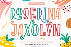 Playful Decorative Font - Roserina Jaxolyn Product Image 2