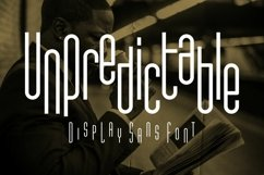 Unpredictable - Display Sans Font Product Image 1