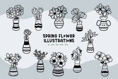 Spring Flower Illustrations Product Image 1