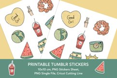 Aesthetic Tumblr Printable Stickers Sheet Product Image 1