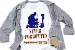 Never Forgotten SVG Fallen Soldier, Memorial day, July 4th Product Image 1