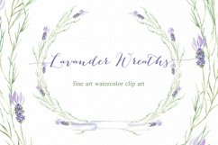 Lavender wreaths watercolor clipart Product Image 3