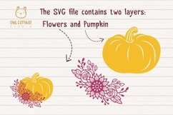 Floral Pumpkin svg, Halloween Floral Decor, Fall svg Product Image 3