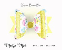 Bow Bundle Template SVG, Spring Bow SVG, Faux Leather Bow Product Image 2