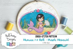 Cross-stitch pattern - Purple Mermaid Maxann 2.0 - CS001 Product Image 2