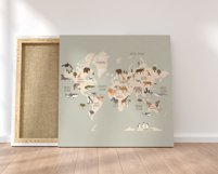 World Map with animals Product Image 4
