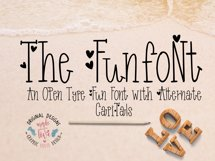 Funfont - Modern Hand Lettered Font with Cute Alternate Capitals Product Image 1
