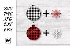 Buffalo Plaid Christmas ball SVG, Buffalo Plaid PNG DXF EPS Product Image 2