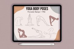 Realistic Yoga Body Poses Stamps for Procreate Product Image 1