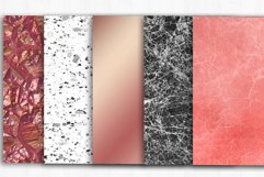 Marble Rose Gold Digital Paper, Marble background Product Image 2