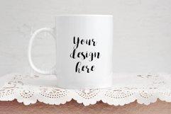 Coffee mug mockup, rose gold mock up , psd cup template Product Image 1