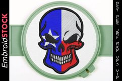 Texas Punisher Skull Embroidery Design Product Image 1