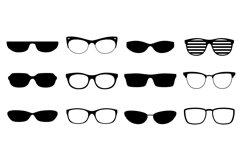 Eyeglasses silhouettes set Product Image 1