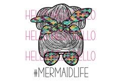 Mermaid Life Hair Bun Messy Bun Sun Glasses png sublimation Product Image 1