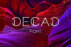 DECAD font Product Image 1