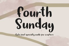 Fourth Sunday Cute Font for Crafts Product Image 1