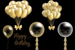 Gold Balloons Clipart Product Image 2