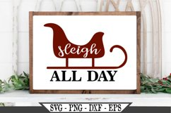 Sleigh All Day Funny Christmas SVG Design Product Image 1