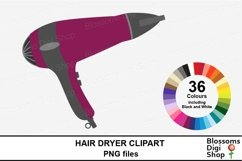 Hair Dryer Clipart Product Image 1